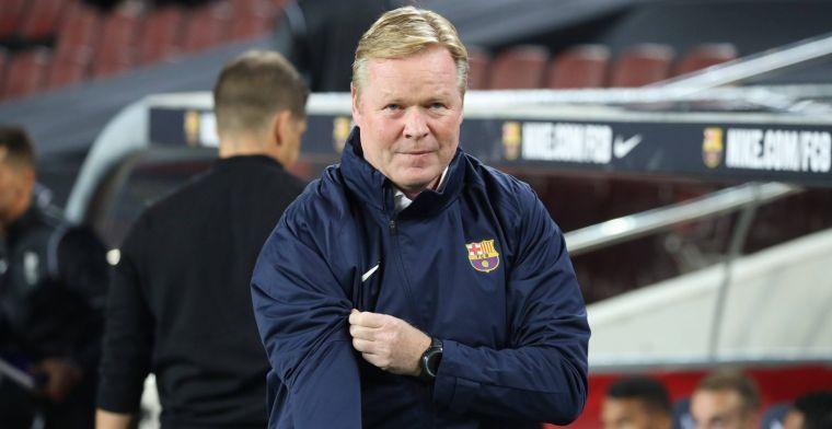 Barça 'steunt' Koeman: 'Of hij er zondag bij is? Dat denk ik wel'