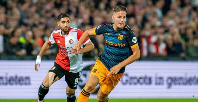 Vink onder de indruk: 'Ik denk dat Veerman makkelijk bij topclub kan spelen'