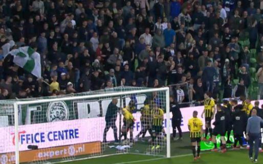 Een bizarre avond: de schandaalwedstrijd in Groningen in één video gevat