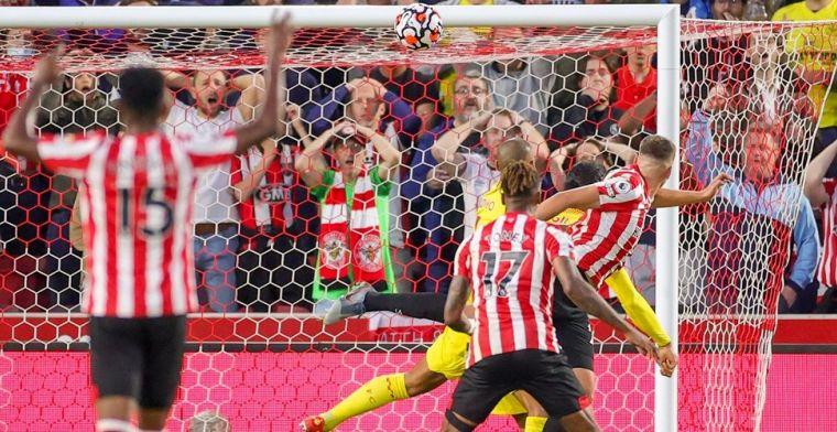 Liverpool geeft twee keer voorsprong weg en profiteert half van falen concurrentie