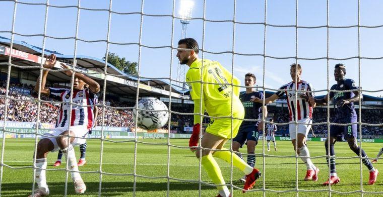 Gedeelde koppositie voor Willem II: PSV verliest derby na blunder Drommel