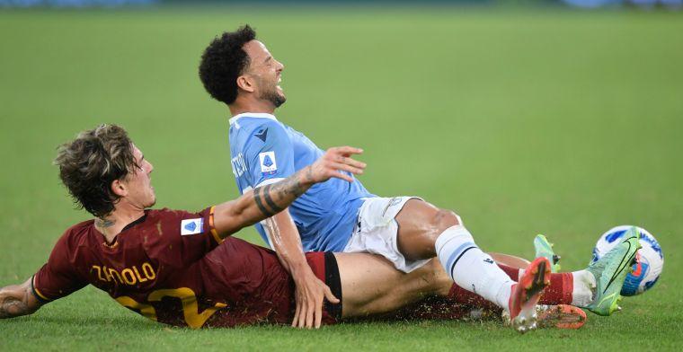 Lazio verslaat AS Roma in beladen stadsderby na geweldig voetbalgevecht