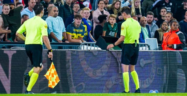 VAR en arbiter Kooij verschillen van mening bij 4-3 Feyenoord: 'Bepalend moment'