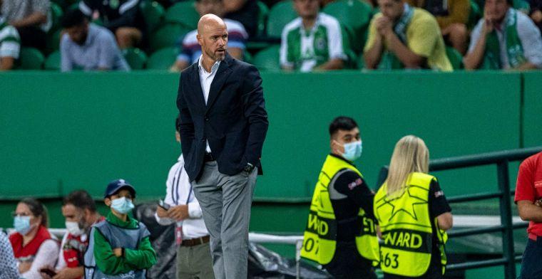 Ten Hag tevreden met reactie Ajax-spelers: 'Dan moet je bal niet buiten schieten'