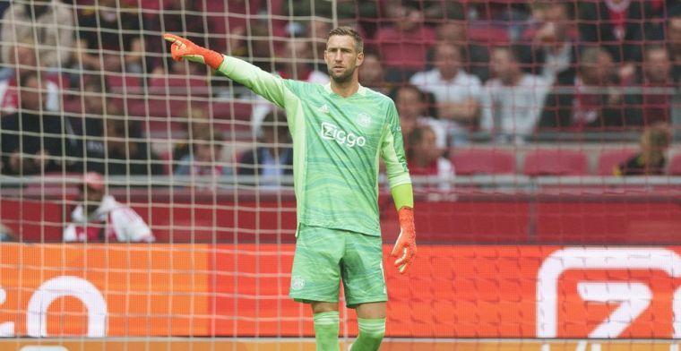 Ajax bevestigt: Stekelenburg komt dit seizoen niet meer in actie