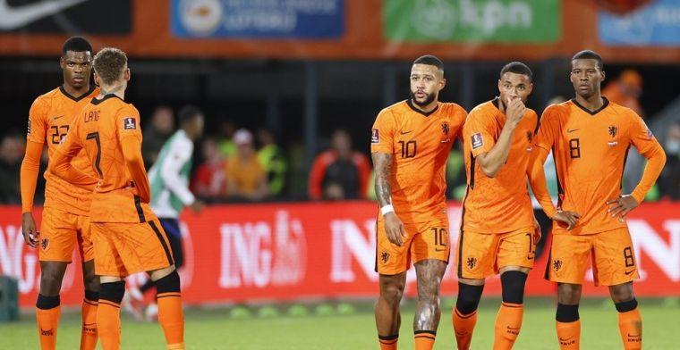 Oranje zet tennisuitslag neer tegen Gibraltar, Turken ontsnappen in minuut 99