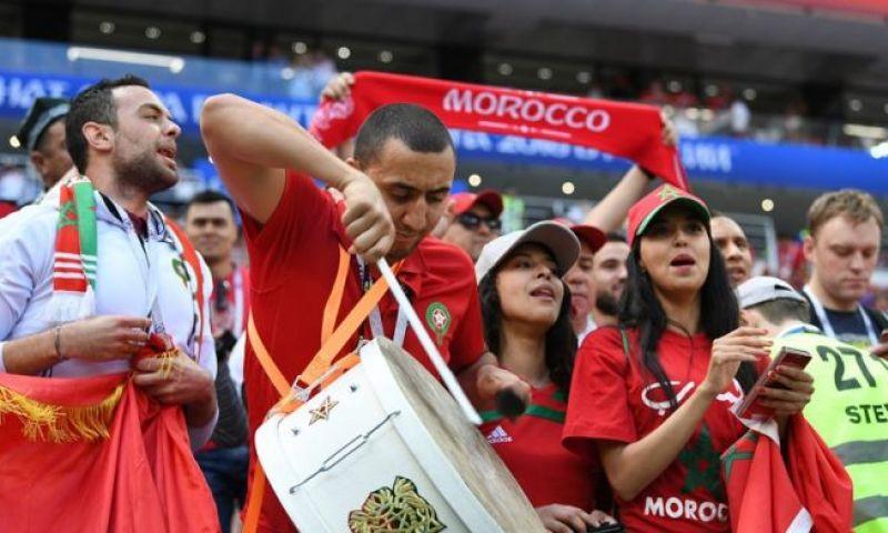 Afbeelding: Amallah dirigeert Marokko naar winst tegen Guinee