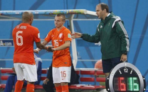 Afbeelding: 'Het waren fantastische tijden bij Oranje, maar ik focus me nu lekker op AZ'