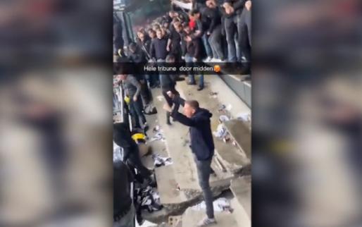 Beelden uit het uitvak na NEC-Vitesse: scheur in het beton, feestje gaat tóch door