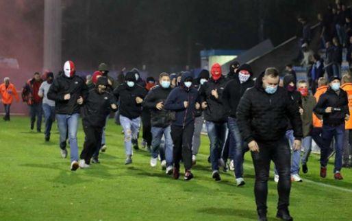 De beelden: Keulen-hooligans gaan confrontatie aan in Genk tijdens U19-match