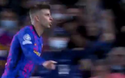 Piqué toont zich een spits en helpt FC Barcelona en Koeman aan voorsprong
