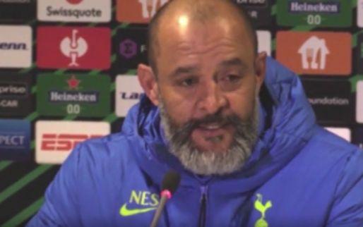 Spurs-manager Nuno Espírito heeft geen spijt van opstellen B-elftal tegen Vitesse