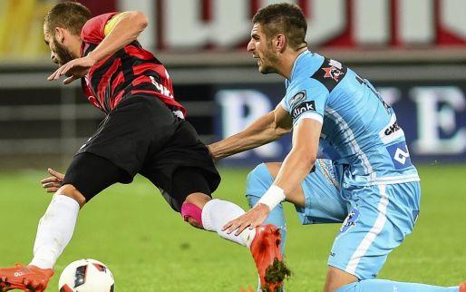 Afbeelding: Shkendija rekt meer dan een kwartier tijd in tweede helft tegen AA Gent