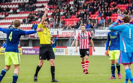 Afbeelding: Jong Ajax krijgt rood en vertrekt met staart tussen de benen uit Rotterdam