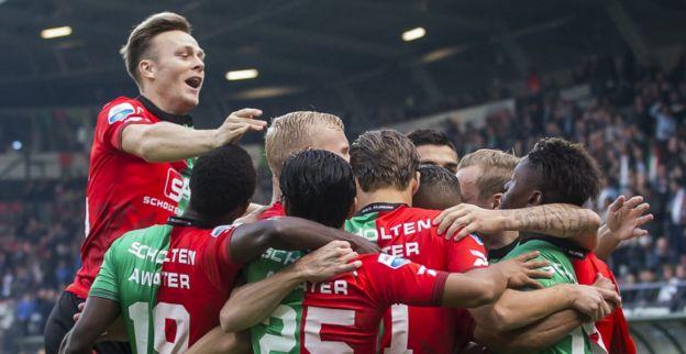 Fantastische goal van Santos fraai hoogtepunt bij zege van verrassend NEC