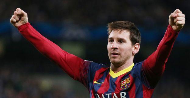 Barcelona wint ruim van Almeria, 230e competitiegoal Messi