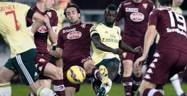 Tiental AC Milan bezwijkt onder Turijnse furie en keert met punt huiswaarts