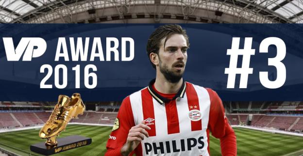 VP Award 2016: Derde plaats voor klassespeler van PSV
