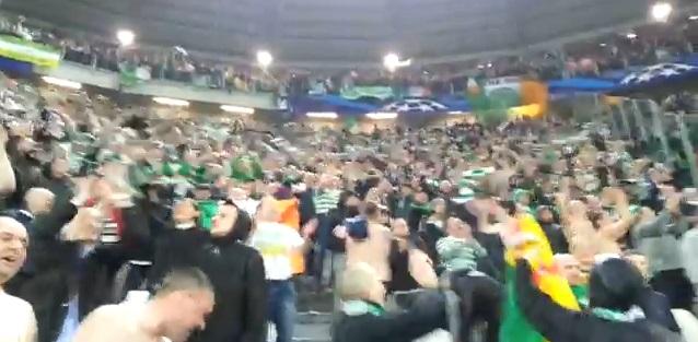 Celtic-fans blijven zingen
